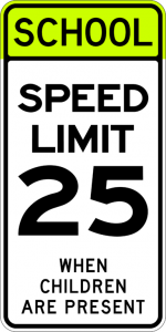 School Speed Limit in California