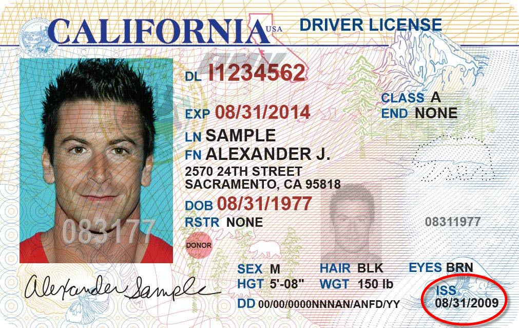 California Driver S License Issue Date Ca Dmv Issue Date