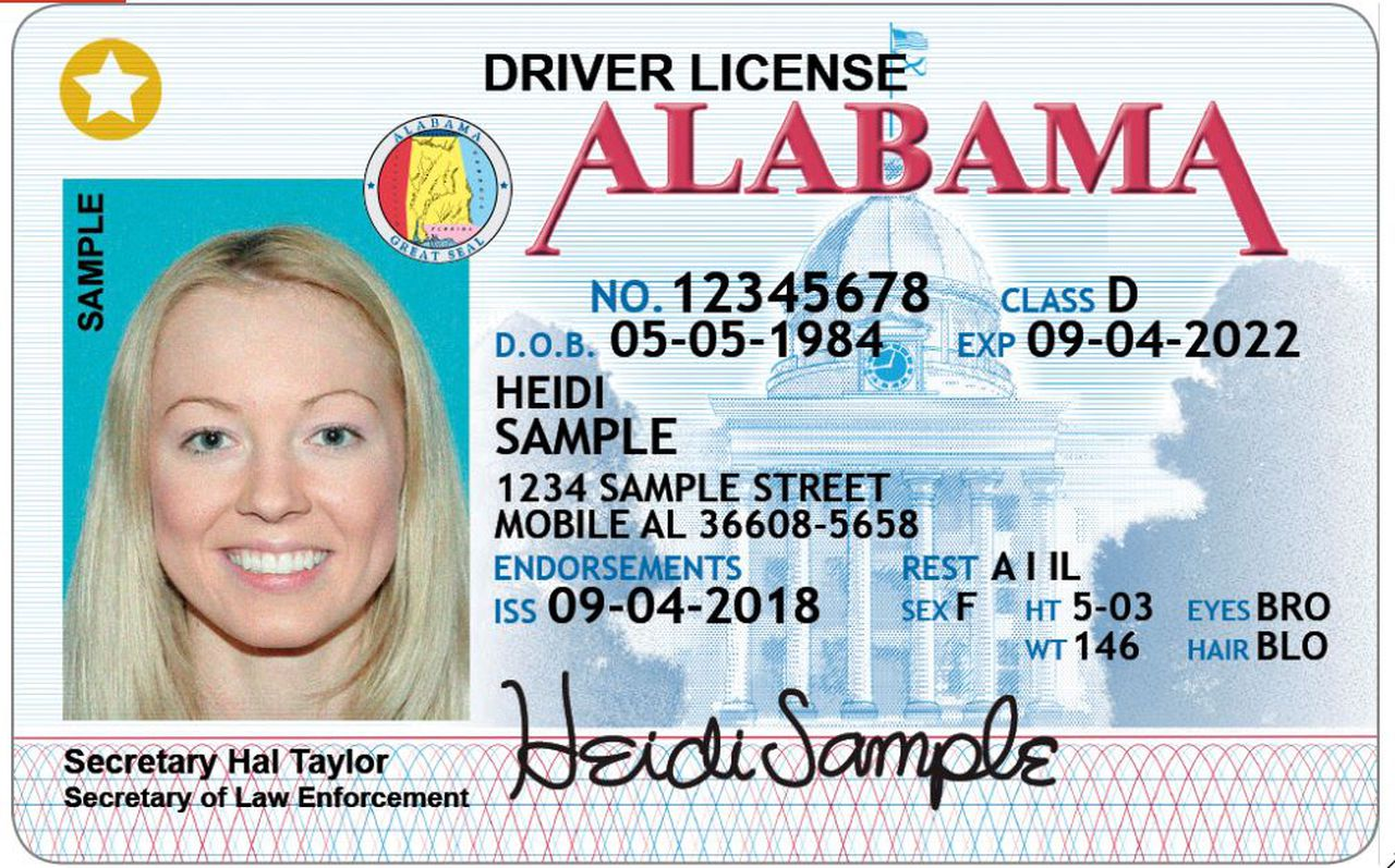 Alabama State Driver License