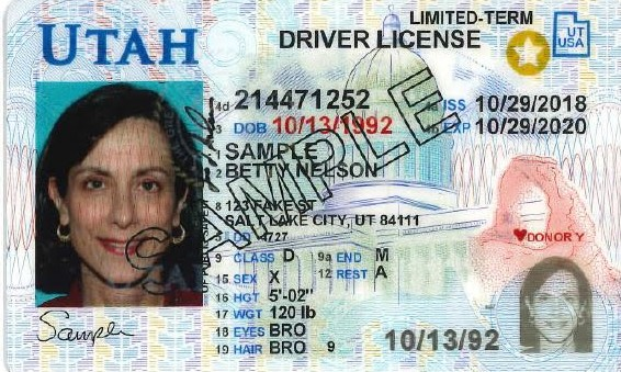 Utah state drivers licenses