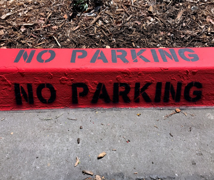 Painted Curb No Parking